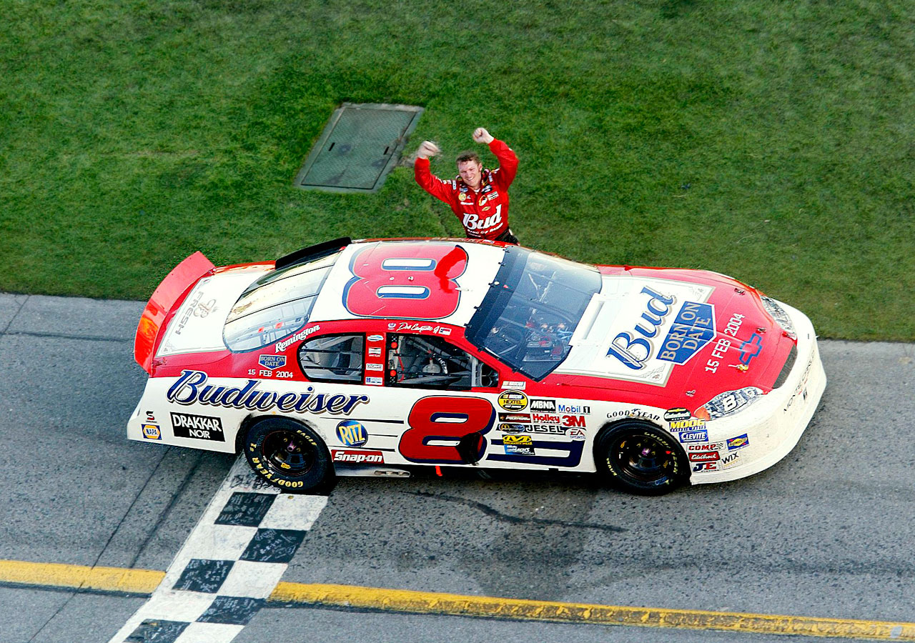 Dale Earnhardt Jr. turned DIS into a mass of celebrating, crying, exulting true believers in 2004, passing Tony Stewart on Lap 181 of 200 and winning NASCAR's most important race for the first, and to this point, only time. Earnhardt Jr. had finally claimed the biggest prize where his namesake and father had perished on the final lap of the 2001 Daytona 500.