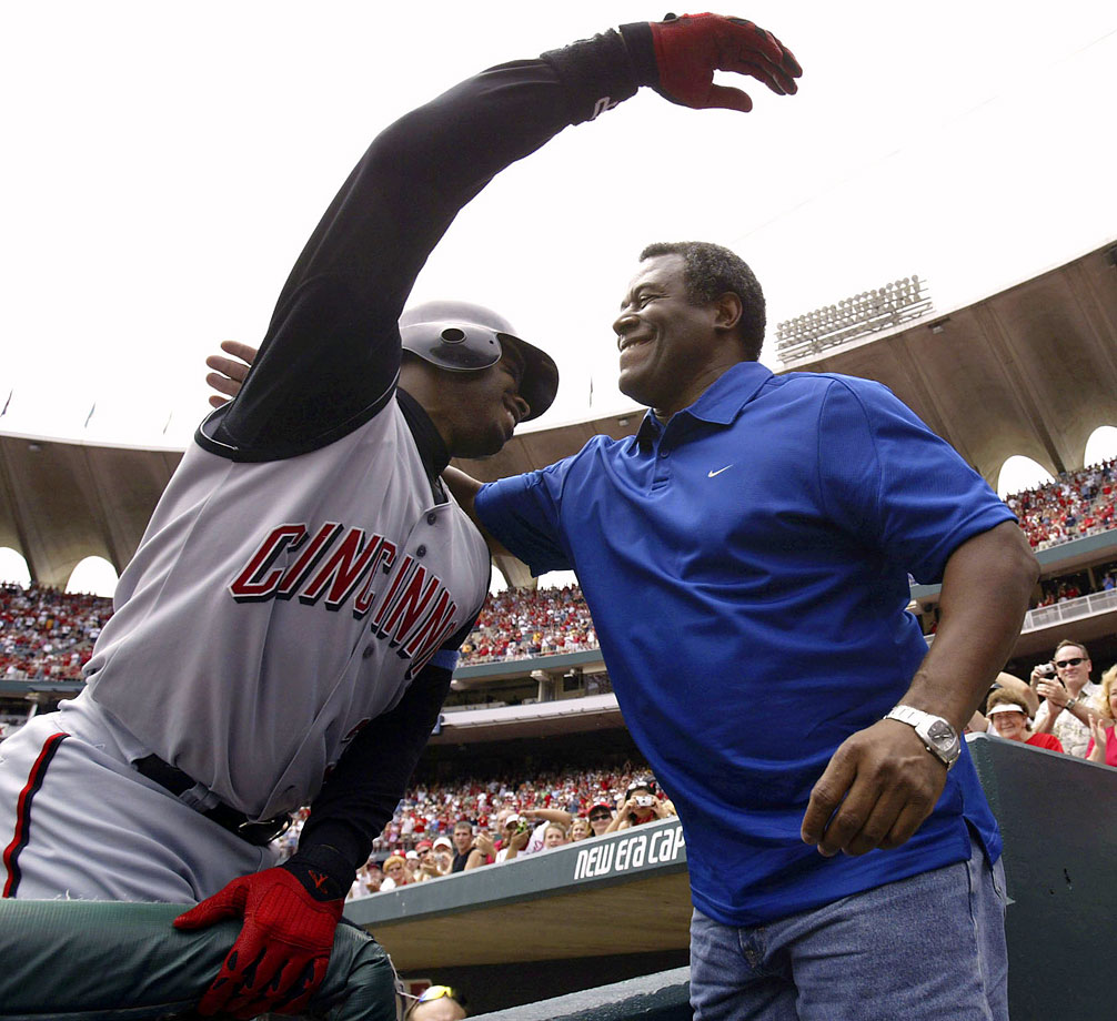 On June 20, 2004, Ken Griffey Jr. joined the 500-home run club with a blast off the Cardinals' Matt Morris in St. Louis, and later shared a hug with his dad at the game. It couldn't have come on a better day — Father's Day.