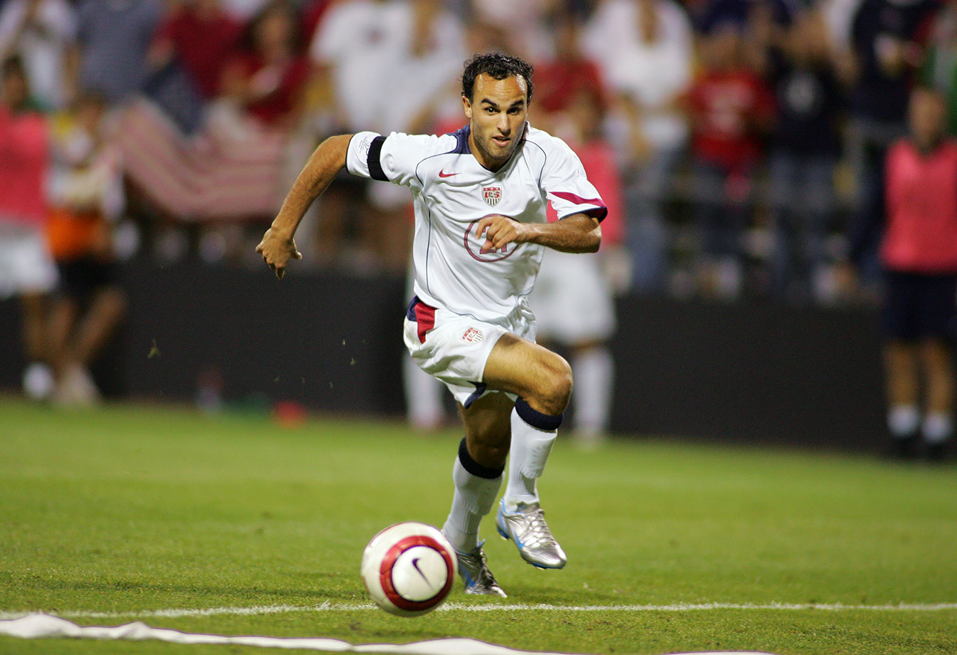 Landon Donovan in action against Mexico during a 2006 World Cup qualifier.