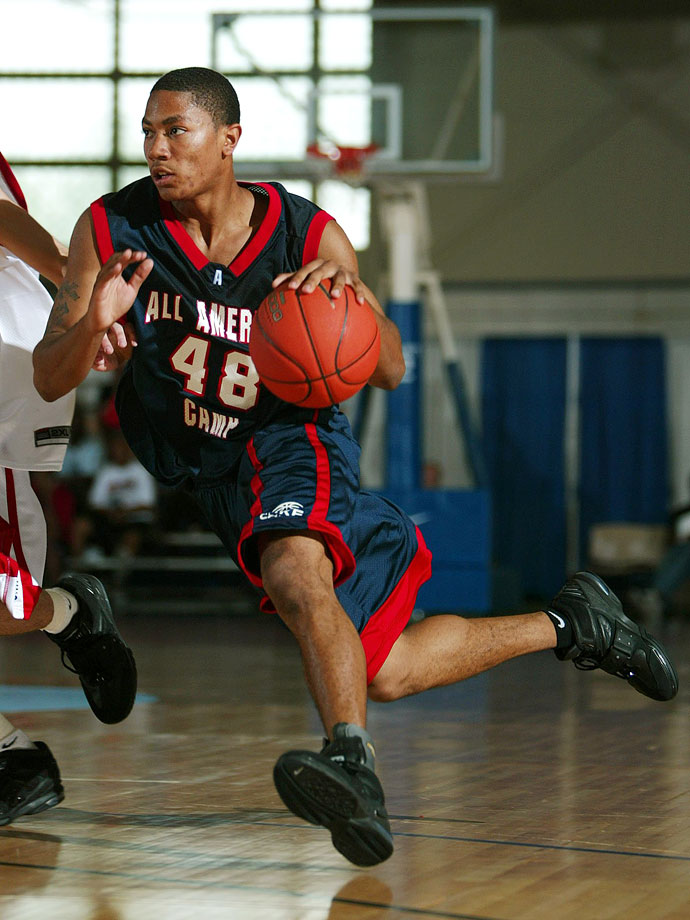 Derrick Rose enrolled at Simeon in 2003, but because of a longtime rule by coach Bob Hambric, Rose had to start on the junior varsity squad, and wasn't allowed to speak to media until the end of his junior season.
