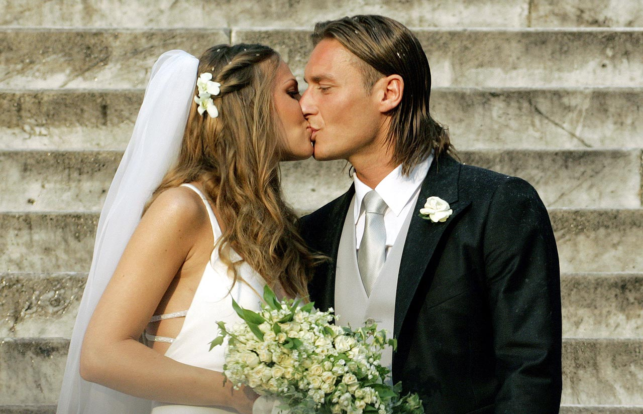 Francesco Totti and Hilary Blasi