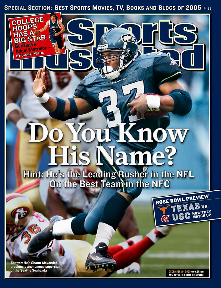 The 2005 Seahawks ran off 11 straight from Weeks 5 to 16. They famously survived a Week 12 scare at home, winning 24-21 in overtime (inset) after Giants kicker Jay Feely was barely wide left on a 40-yard field goal attempt at the end of regulation, and then missed 54- and 45-yard attempts in overtime. Shaun Alexander & Co. weren't so fortunate in the Super Bowl, losing 21-10 to the Steelers.