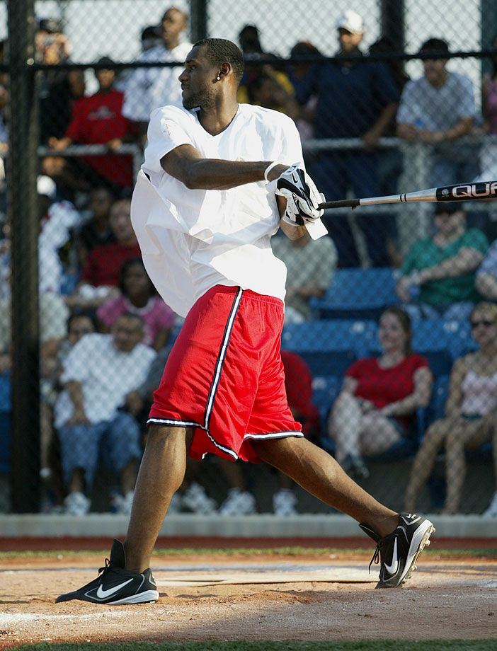 And if he decides to pull a Michael Jordan and try a career in baseball, it looks like LeBron may have a bright future in that, as well.