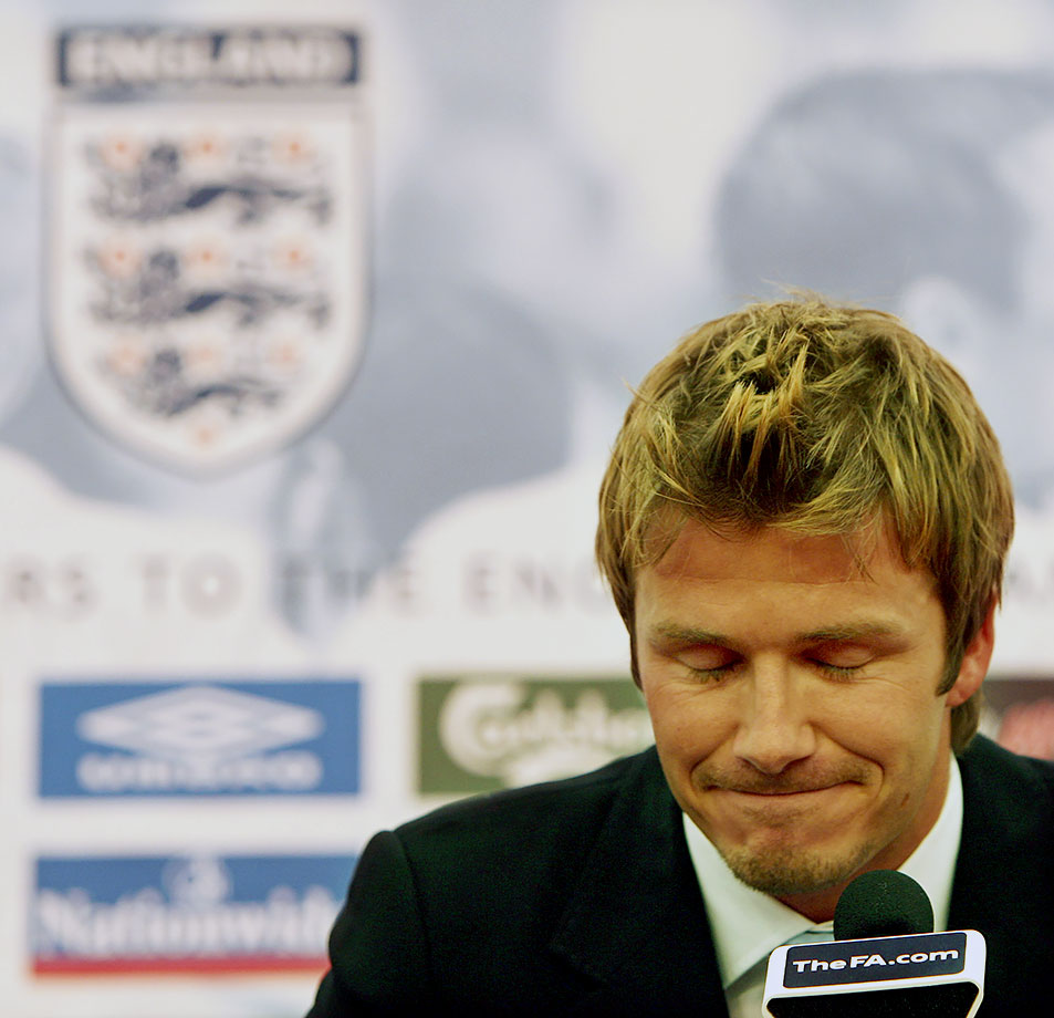 "Beckham stepped down as captain of the England national team after his third World Cup in 2006. ""The time is right to pass on the armband as we enter in a new era,"" he said."