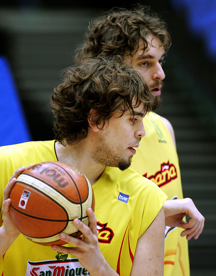 World Basketball Championship — Spain training session