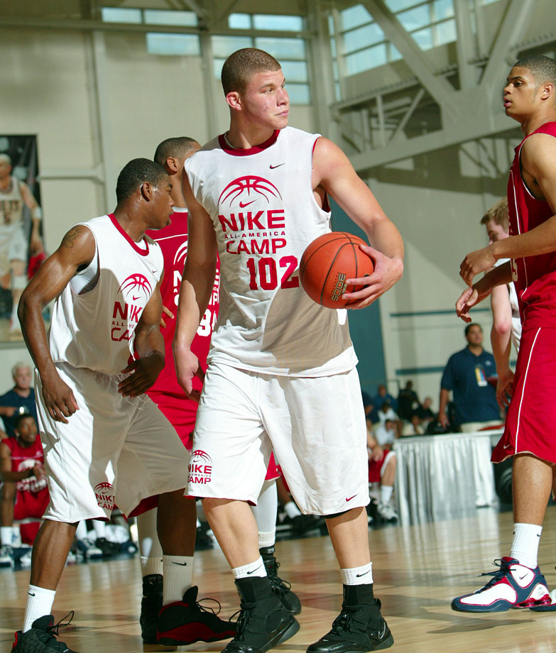 Oklahoma Christian School product Blake Griffin intimidates at the Nike All-American Camp in Indianapolis.