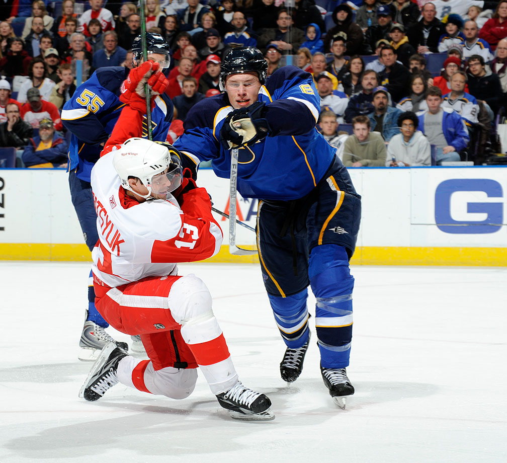Highly-touted as a cornerstone of the Blues' youth movement, the swift-skating, physical, edgy blueliner had been plagued by injuries and missed all of the 2008-09 season after knee surgery. Johnson managed to play in 79 games during the 2009-10 season, scoring 10 goals (six on the power play) and 29 assists. In 2011, the Blues traded Johnson to Colorado. — Notable picks: No. 2: Jordan Staal, C, Pittsburgh Penguins | No. 3: Jonathan Toews, C, Chicago Blackhawks | No. 4: Nicklas Backstrom, C, Washington Capitals | No. 5: Phil Kessel, C, Boston Bruins | No. 22: Claude Giroux, RW, Philadelphia Flyers | No. 23: Semyon Varlamov, G, Colorado Avalanche