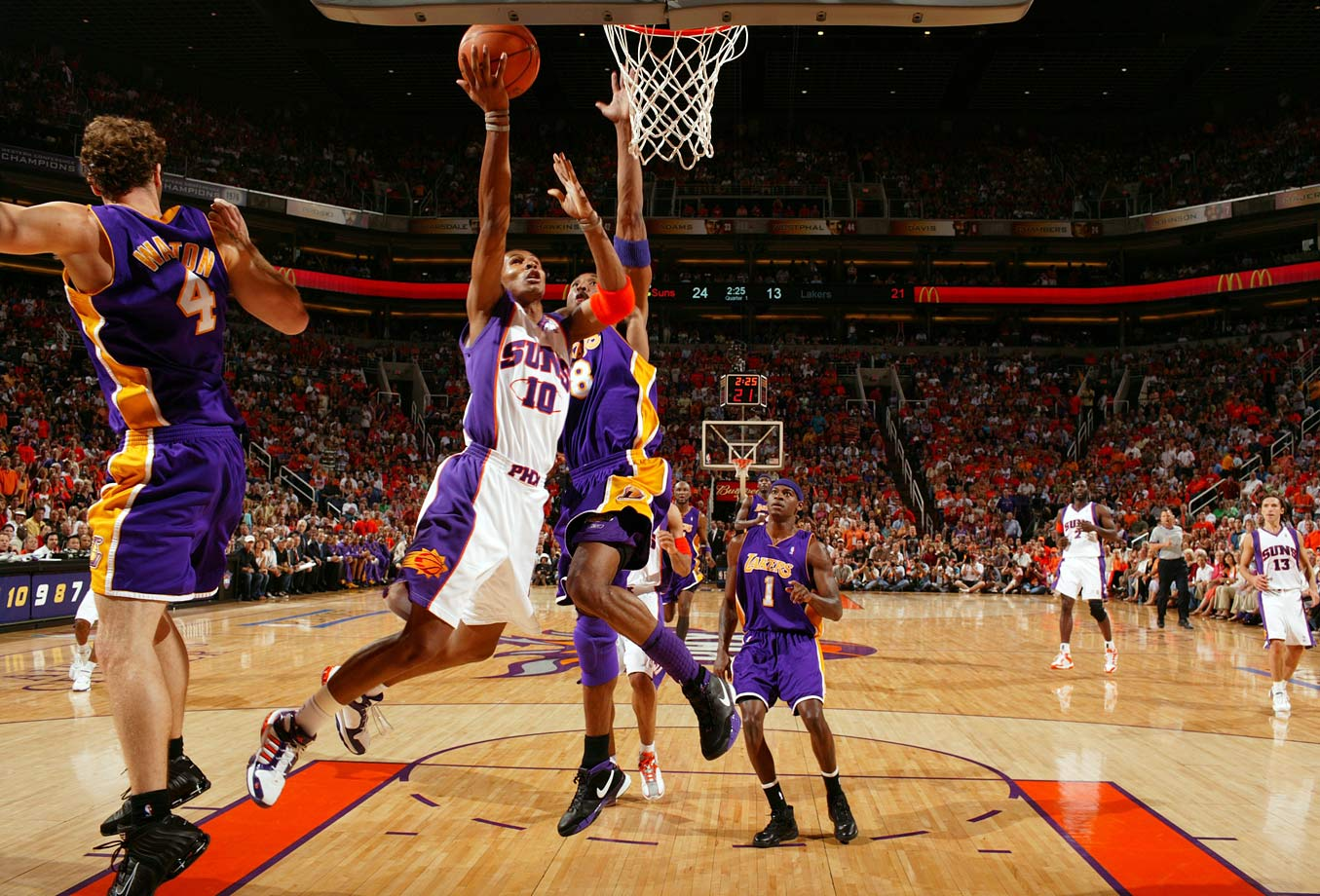 The Suns went from the brink to a blowout, from the edge of elimination to one of the most impressive turnarounds in NBA playoff history. Leandro Barbosa led the way in Game 7, scoring 26 points on 10-of-12 shooting in a 121-90 laugher.