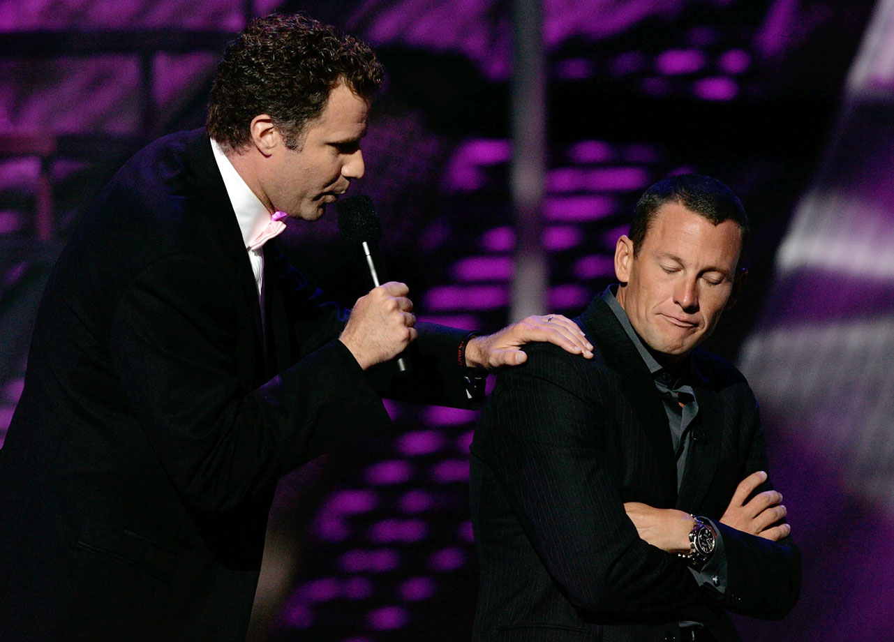 Will Ferrell performs a skit with host Lance Armstrong during the ESPY Awards on July 12, 2006 at the Kodak Theatre in Hollywood, Calif.