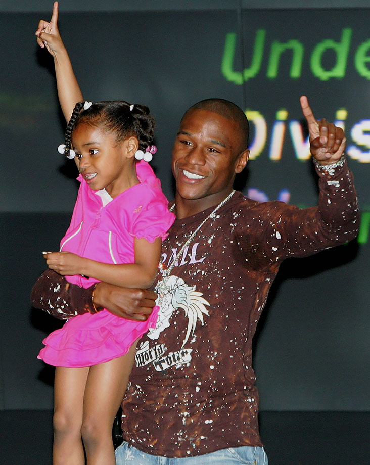 Floyd Mayweather Jr. and daughter Iyanna