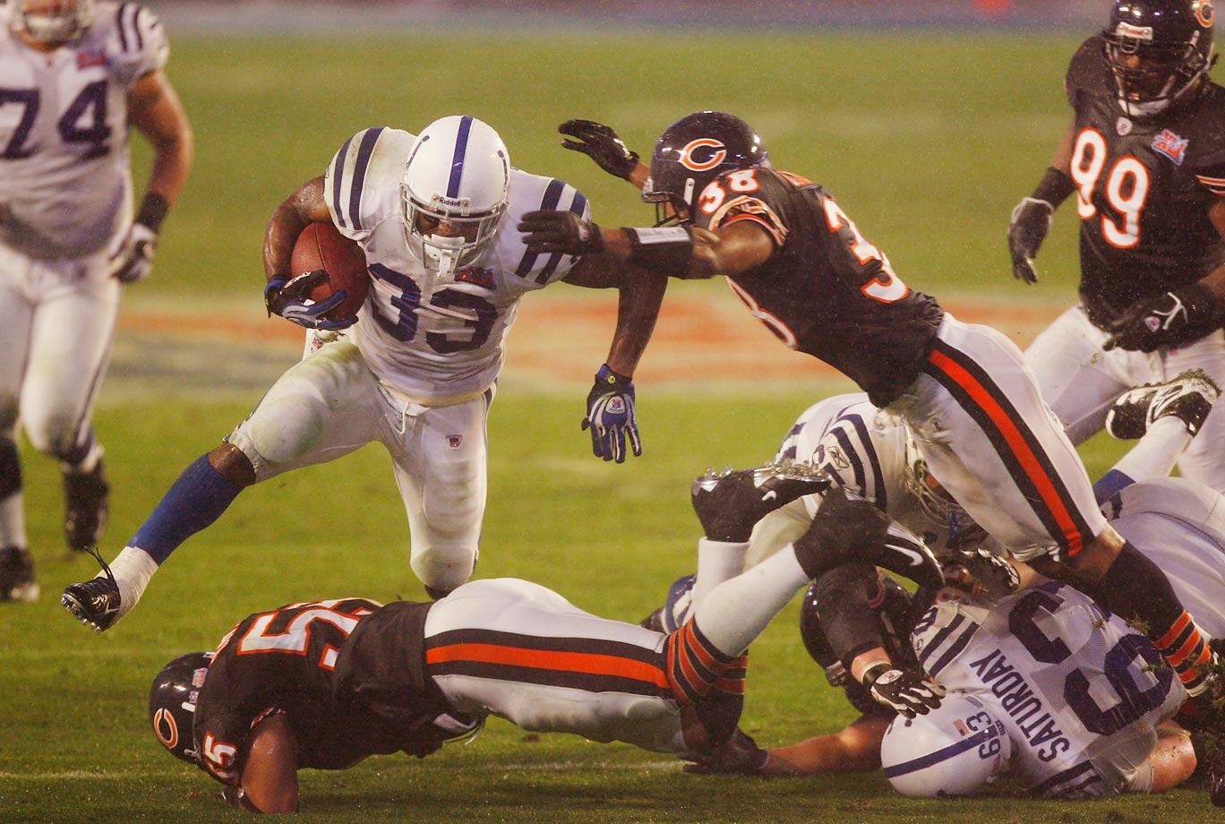 Dominic Rhodes ran for 113 yards and a touchdown to help the Colts win their only Super Bowl.