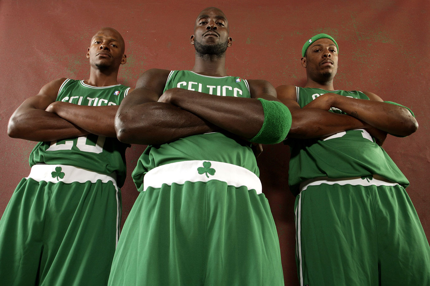 "After the trade, Kevin Garnett, Ray Allen and Paul Pierce were immediately dubbed ""The New Big Three"" in Boston and became one of the favorites to win the 2008 NBA title."
