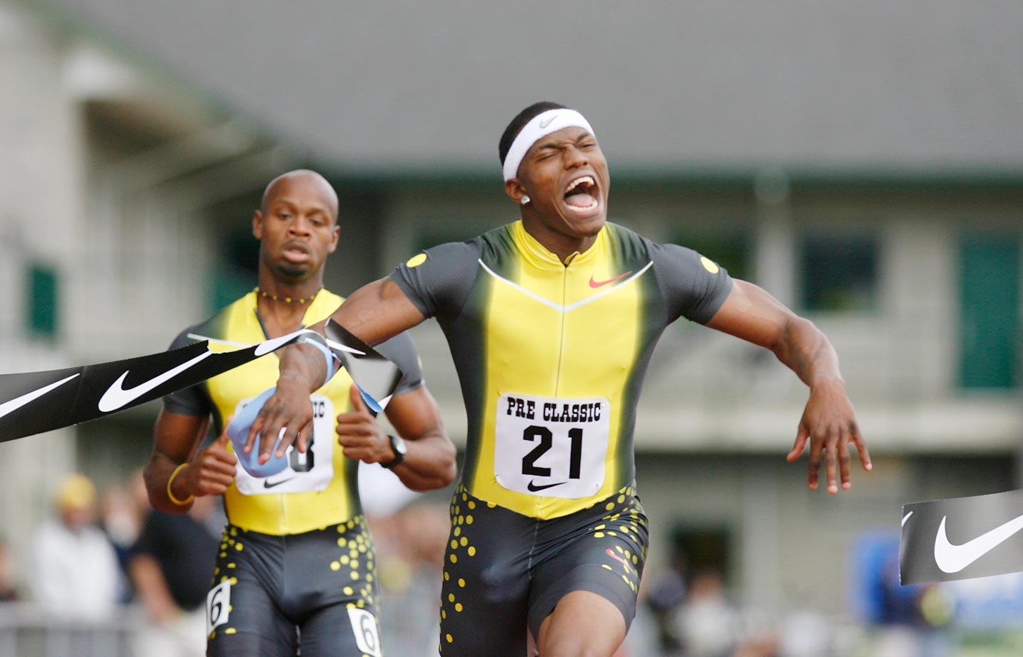 Xavier Carter at the 2007 Prefontaine Classic.