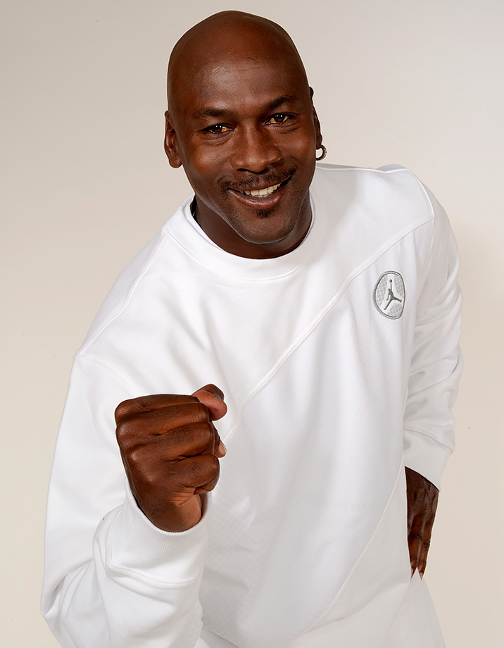 Michael Jordan poses for a portrait in 2008, five years after he retired from his playing career for good.