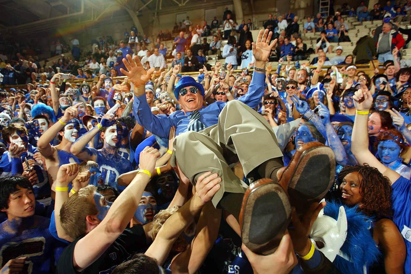 Dick Vitale and Duke fans
