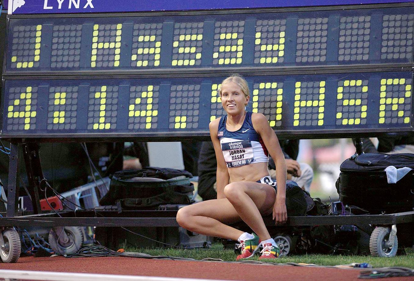 Jordan Hasay at the 1,500-meter m semifinals at the 2008 U.S. Team Trials.