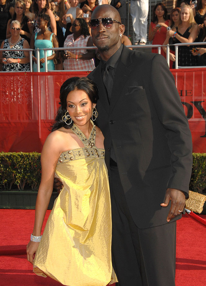 Kevin Garnett poses with his wife Brandi at the 2008 ESPY Awards. The couple married in 2004, which forced KG to miss a chance to defend the gold medal in Athens.