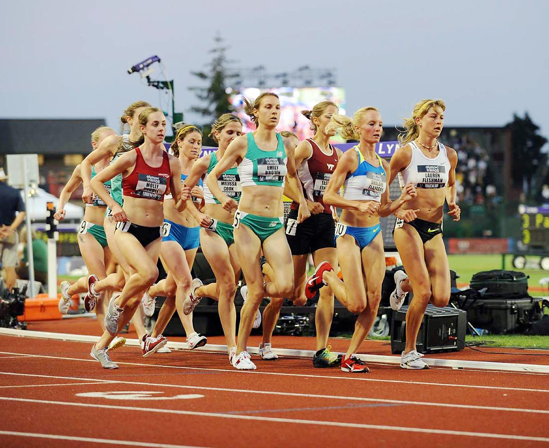 Shalane Flanagan, Tasmin Fanning, Emily Brown and a pack of others at the 2008 U.S. Team Trials.