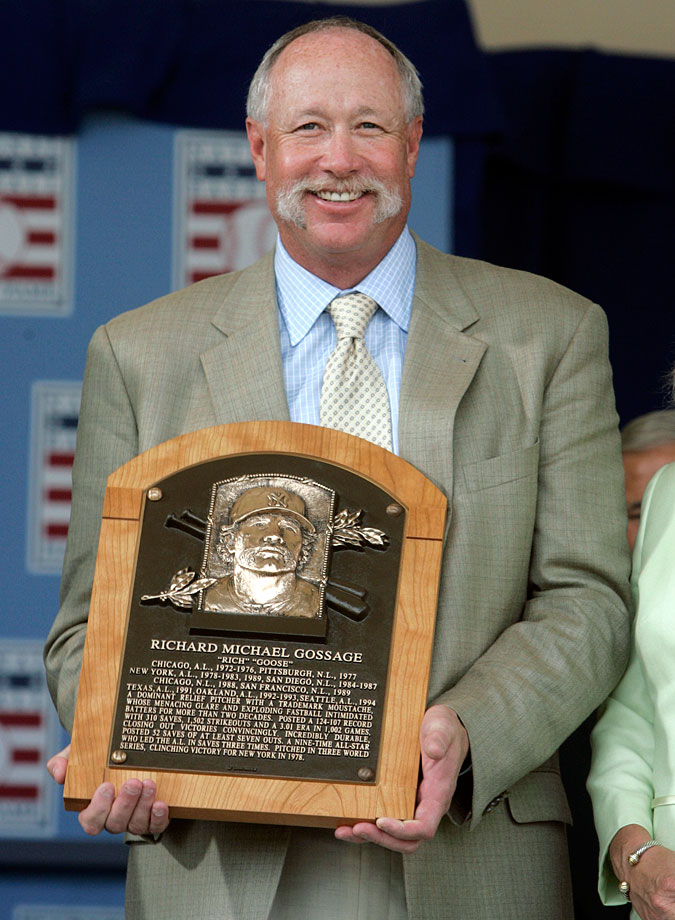 Richard Michael Gossage was inducted into the Baseball Hall of Fame in Cooperstown, NY, on July 27, 2008.