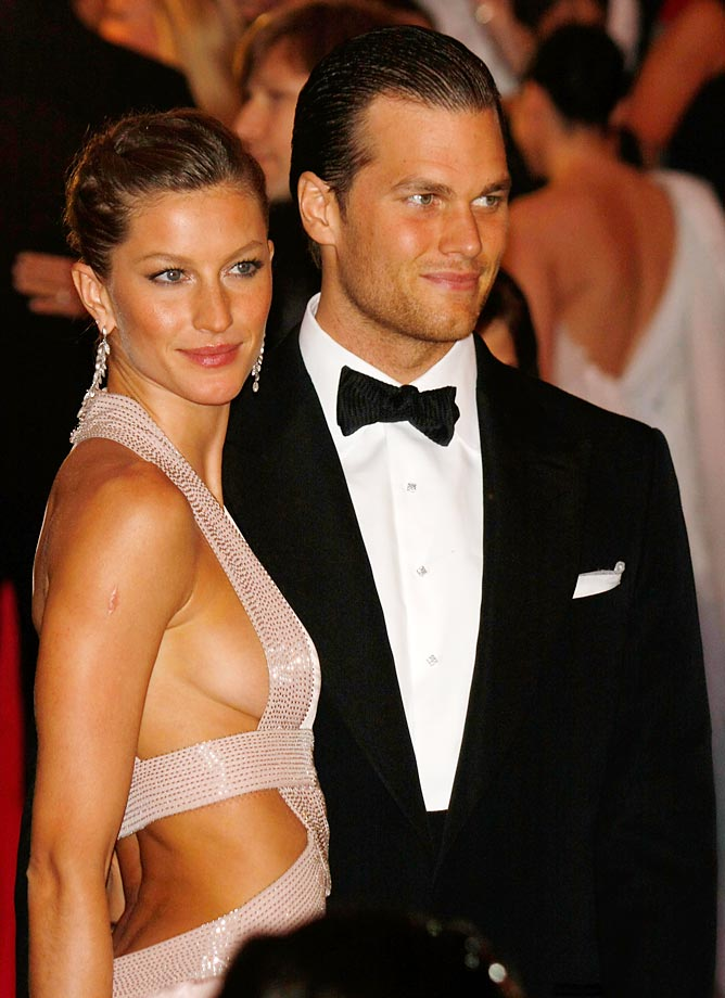 Gisele Bundchen and Tom Brady.