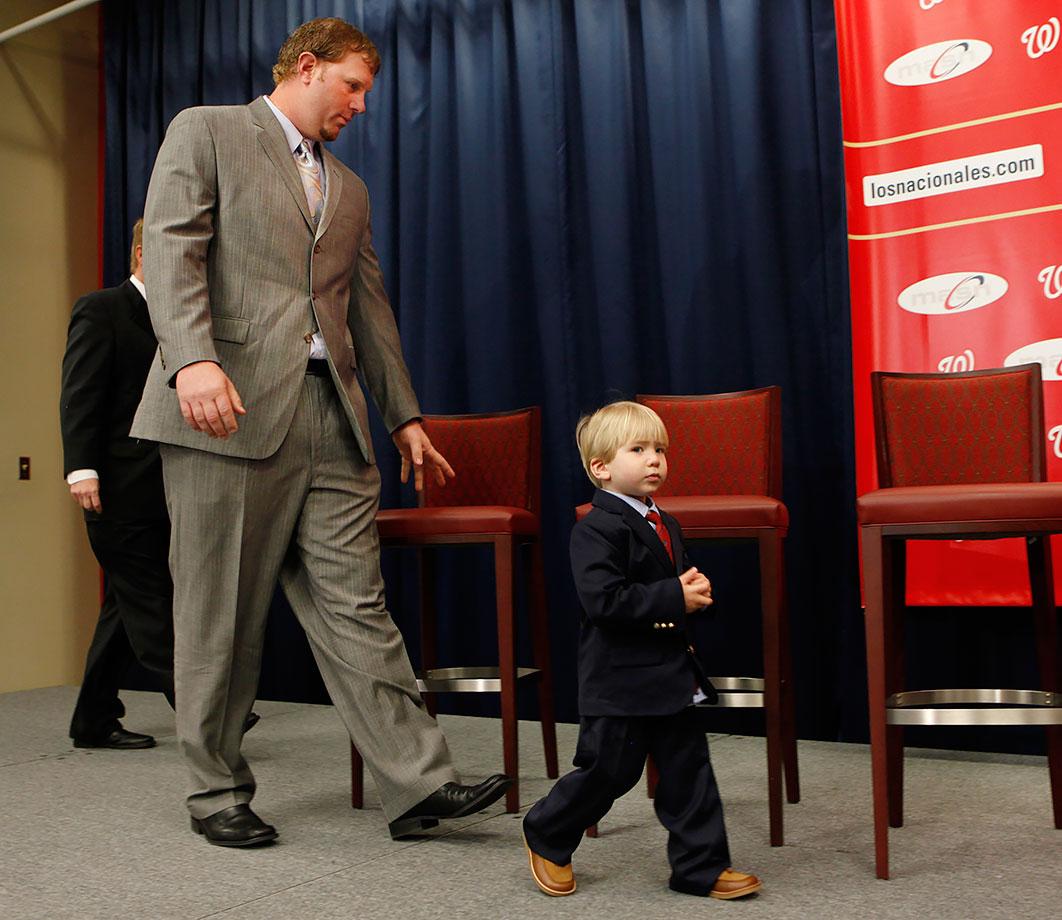 Adam Dunn and son Brady