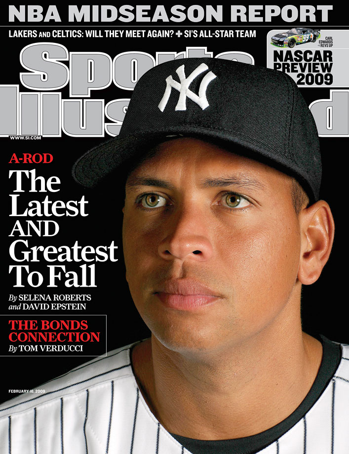 While many fans looked at Rodriguez's impressive statistics and felt they had to be attained with the help of performance-enhancing drugs, it took two SI reporters to prove it. Selena Roberts's and David Epstein's February 2009 cover story revealed that A-Rod had tested positive for two anabolic steroids -- testosterone and Primobolan -- during his 2003 season while playing for Texas. In an interview with ESPN days later, the third baseman admitted the report was true and he used banned substances from 2001 to 2003, a charge he flatly denied to Katie Couric in an interview two years later. He was not punished by Commissioner Bud Selig because the test was supposed to be anonymous and there was no mechanism in place at the time for disciplinary action.