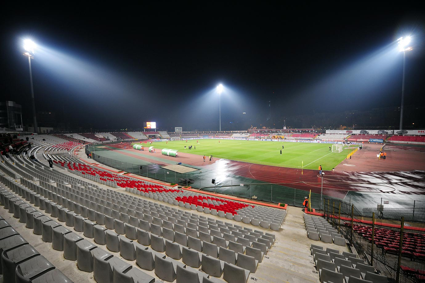 FC Dinamo Bucureşti had to play two home games in European competitions behind closed doors after their match against FC Slovan Liberec on Aug. 25, 2009 was abandoned in the 88th minute due to a pitch invasion by Dinamo fans.
