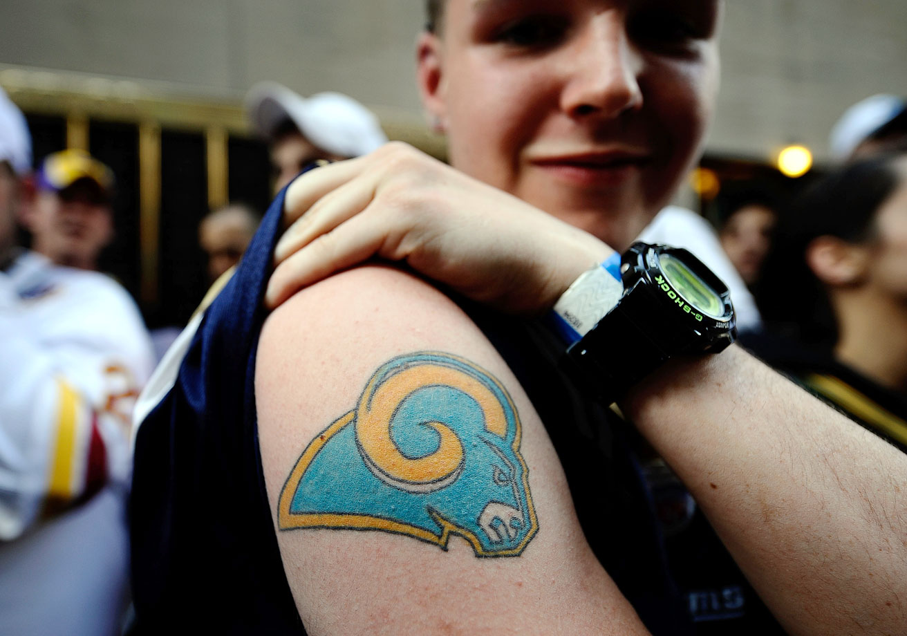 St. Louis Rams fan in 2009.