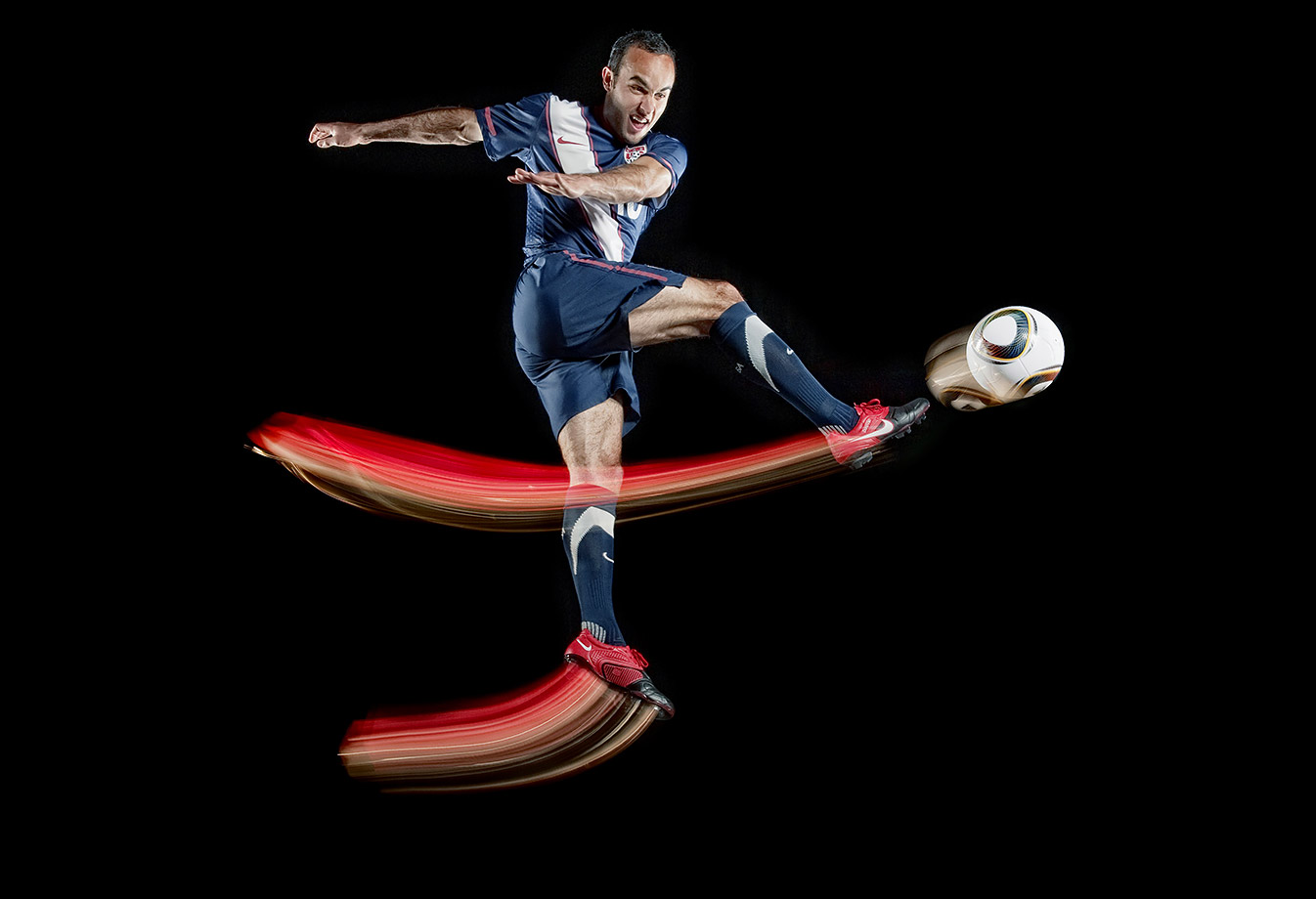 Landon Donovan during an SI For Kids photo shoot.