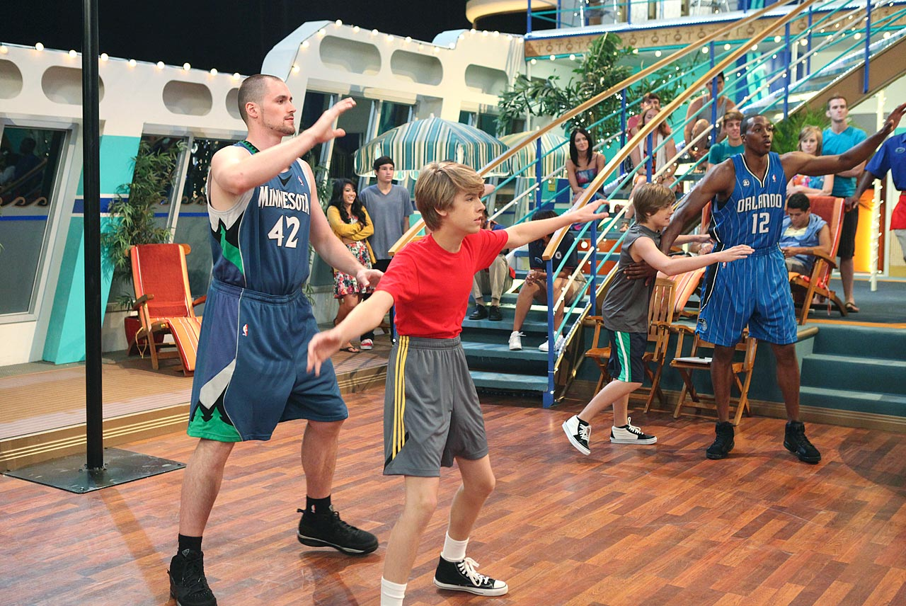 "Love and Dwight Howard guest star on ""The Suite Life on Deck,"" which may have stifled any career in acting."