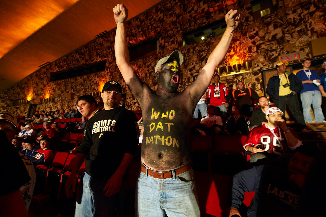 New Orleans Saints fan in 2010.