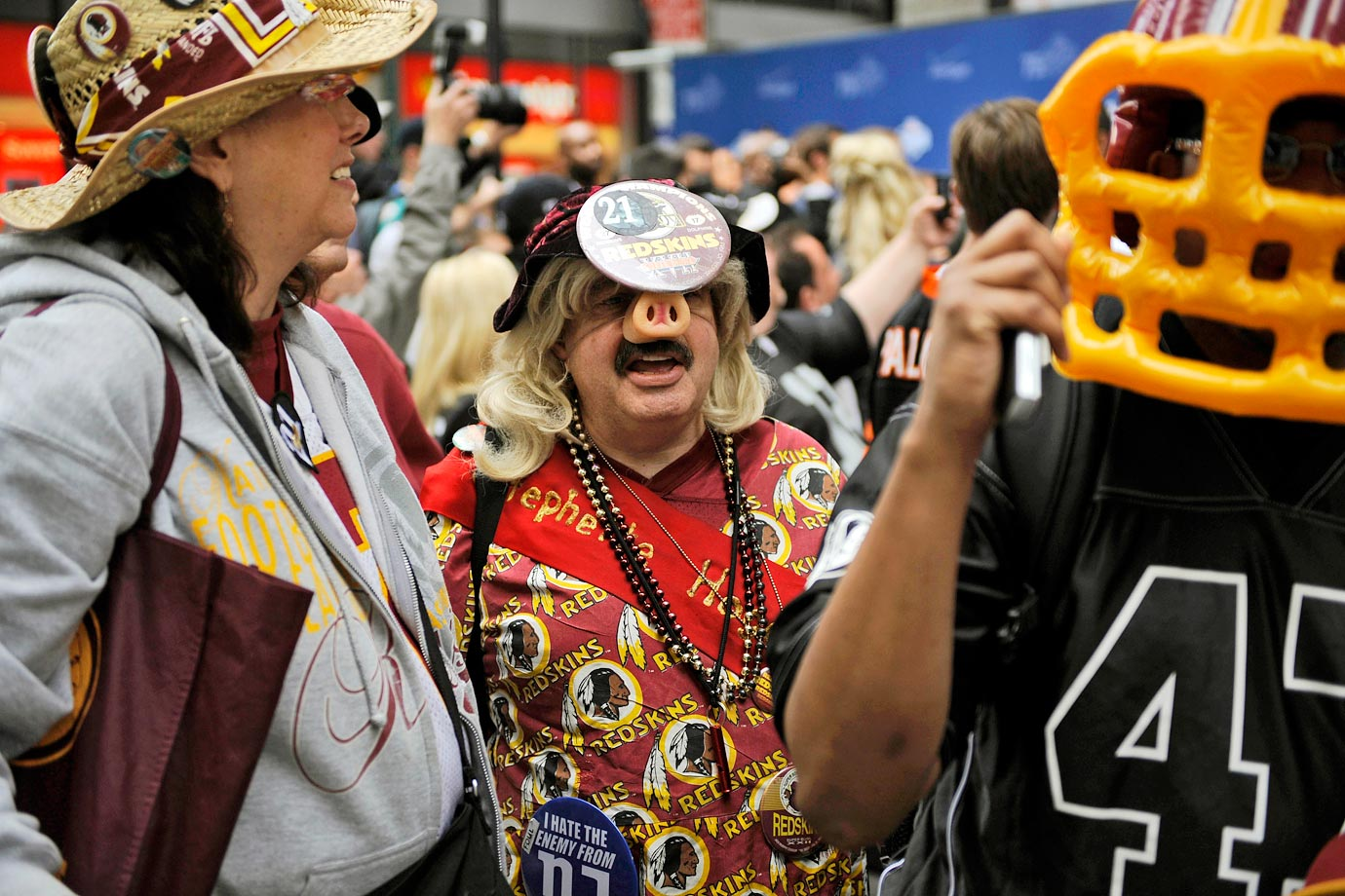 Washington Redskins fans in 2010.