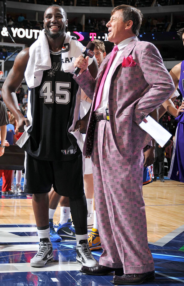 Craig Sager interviews DeJuan Blair following the Rookie Challenge part of NBA All-Star Weekend on Feb. 12, 2010 at the American Airlines Center in Dallas.