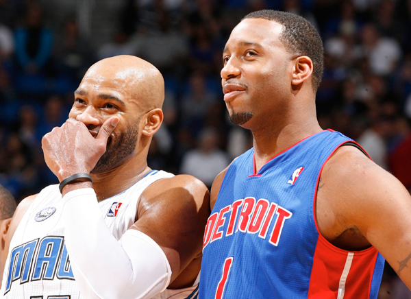 Tracy McGrady and Vince Carter (2010) :: Getty Images