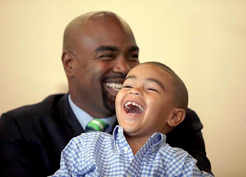 Carlos Delgado and son Carlos Jr.