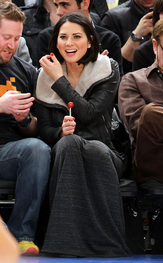 Olivia Munn attends the New York Knicks game against the Atlanta Hawks at Madison Square Garden on Feb. 16, 2011 in New York City.