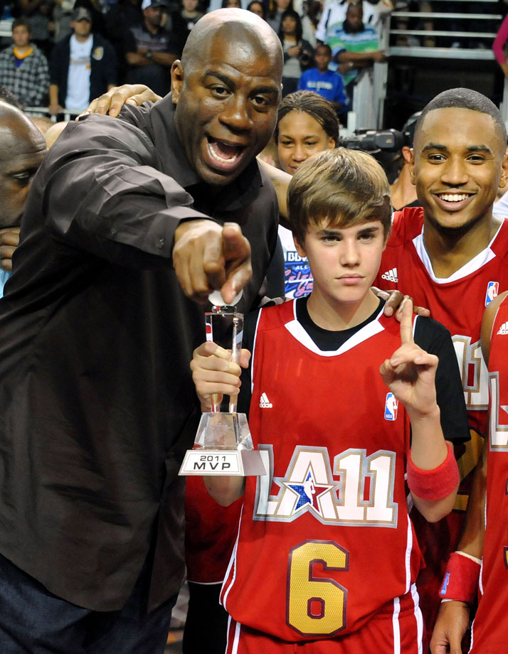 Feb. 18, 2011: NBA All-Star Celebrity Game at the Los Angeles Convention Center