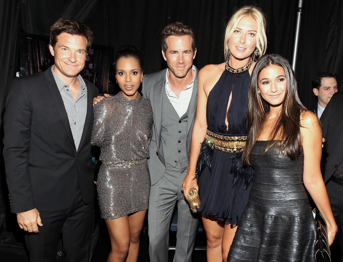 Jason Bateman, Kerry Washington, Ryan Reynolds, Maria Sharapova and Emmanuelle Chriqui attend the 2011 ESPY Awards at Nokia Theatre L.A. Live on July 13, 2011 in Los Angeles.