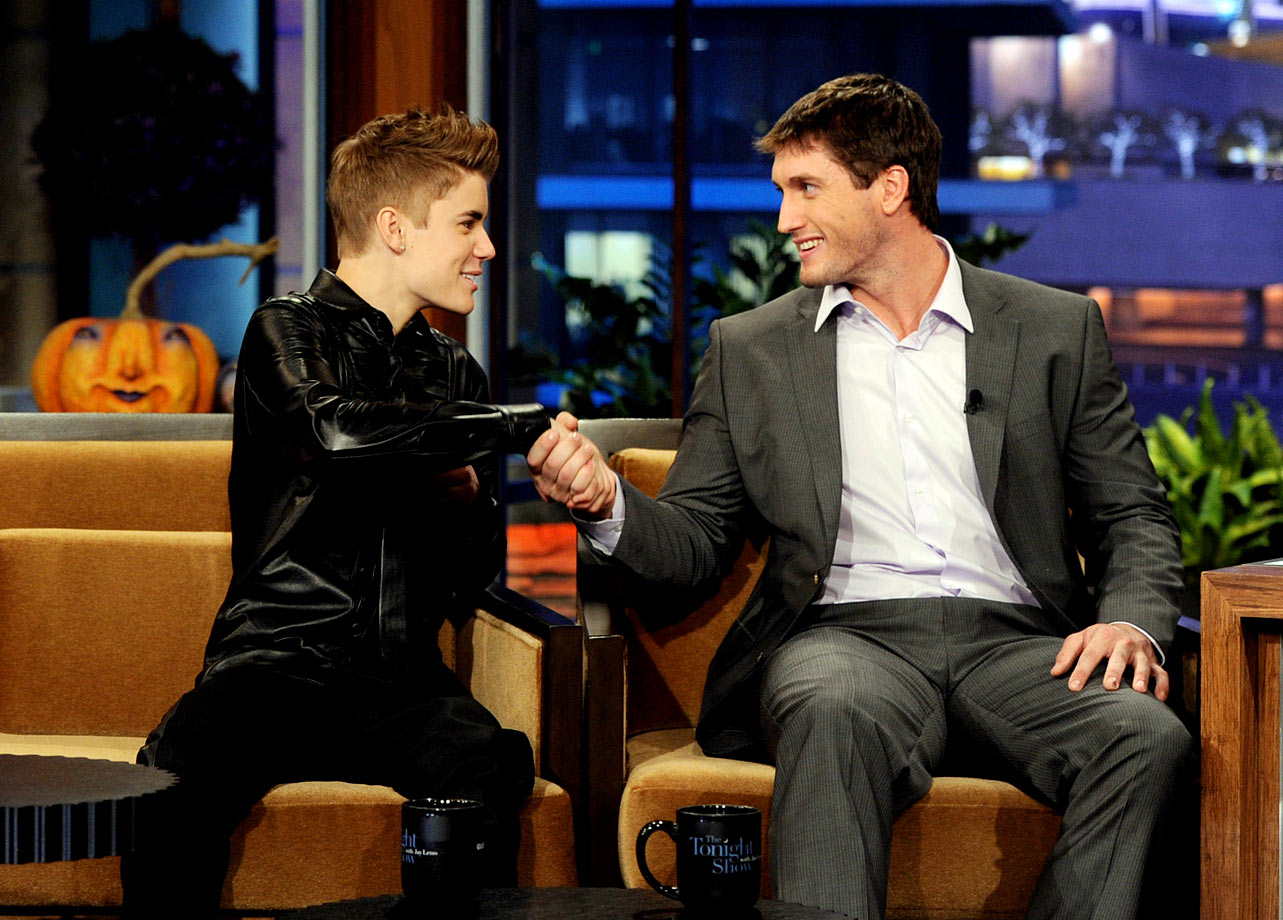 """Oct. 31, 2011: """"The Tonight Show With Jay Leno"""" at NBC Studios in Burbank, Calif."""