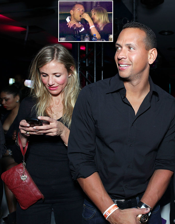 Rodriguez attended Super Bowl XLV with Hollywood girlfriend Cameron Diaz in 2011. As cameras panned to the happy couple, Diaz was shown feeding popcorn to the Yankees third baseman. The video soon went viral and A-Rod reportedly went ballistic, saying the Fox cameras were out to embarrass him.