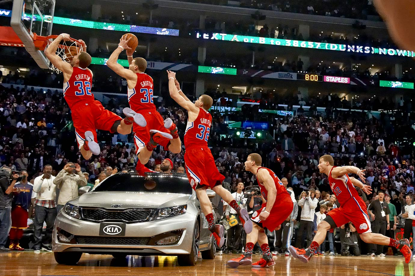 You know this Blake Griffin dunk well, but have you seen the composite of every frame? Pretty great, right?