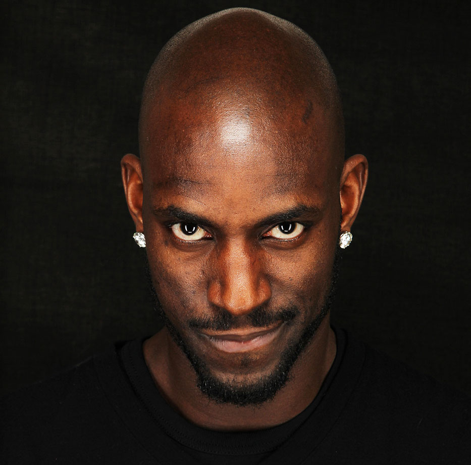 Kevin Garnett poses for a portrait as part of the 2011 NBA All-Star Weekend in Los Angeles.