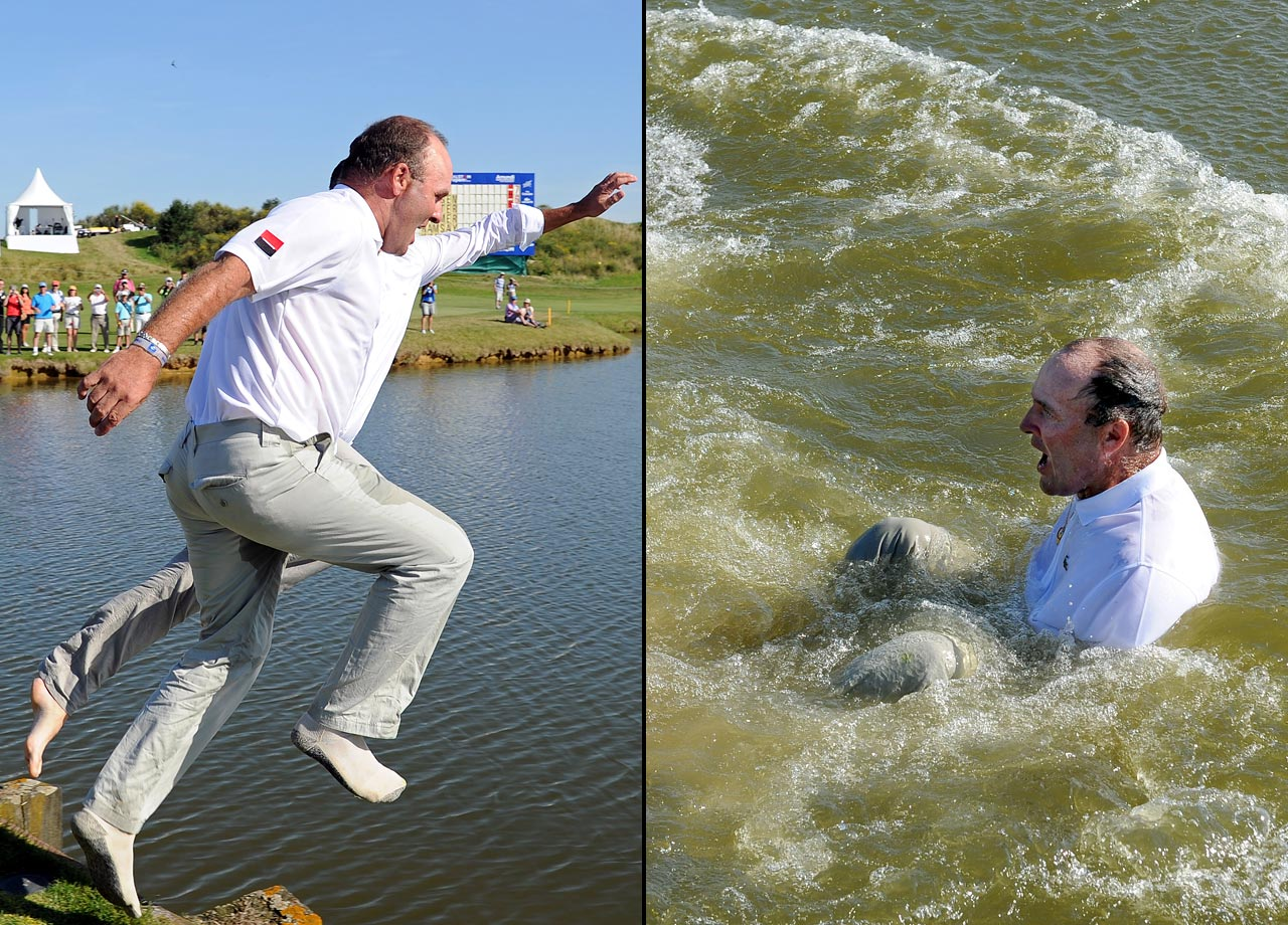 Levet withdrew from the British Open after being ruled out for six weeks with a broken shin. He broke the bone when jumping into a lake to celebrate his victory at the French Open on July 3, 2011.
