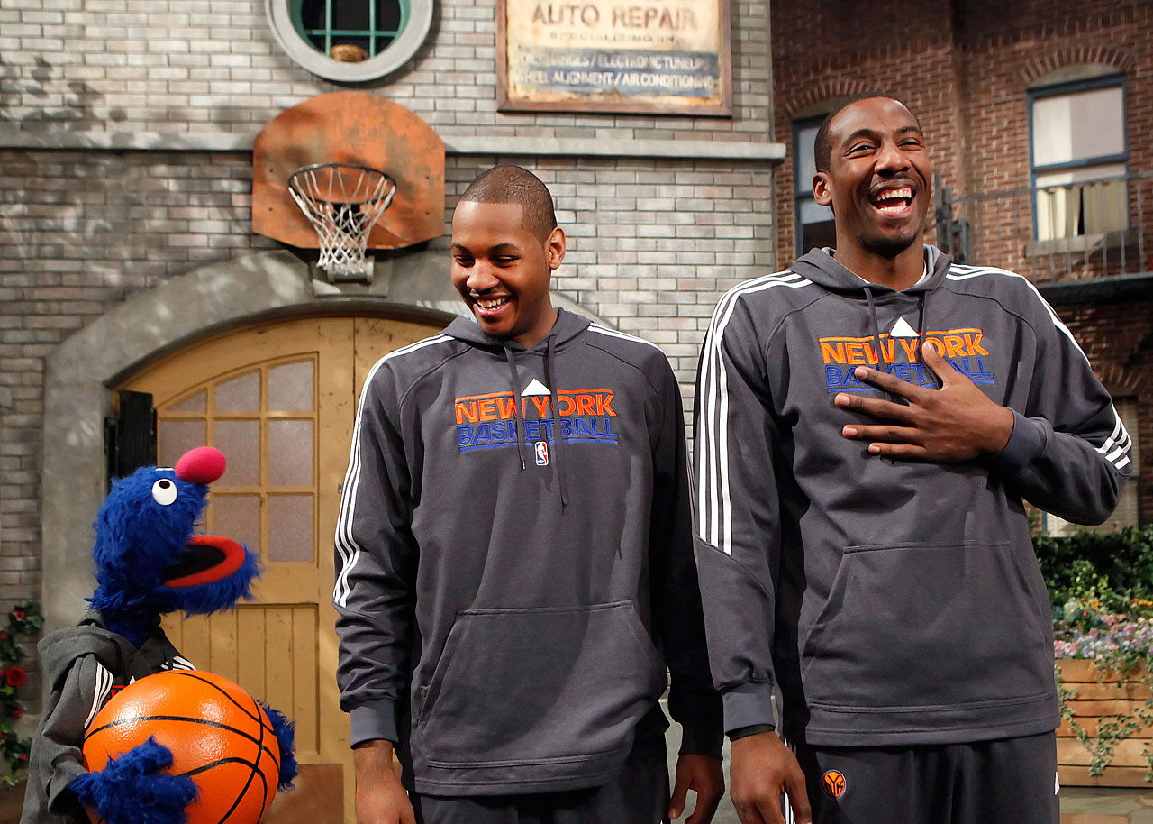 Grover appears to have Anthony and Stoudemire in stitches on Sesame Street.
