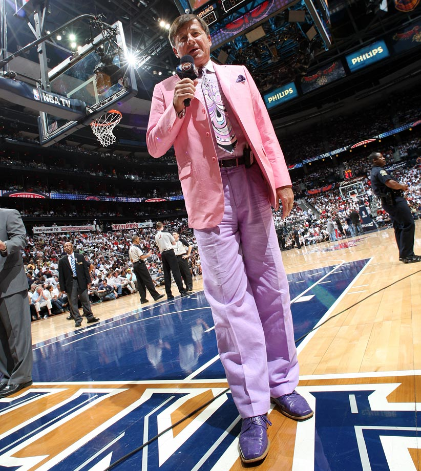 Craig Sager poses for a picture during Game Four of the Eastern Conference First Round between the Atlanta Hawks and Orlando Magic on April 24, 2011 at Philips Arena in Atlanta.