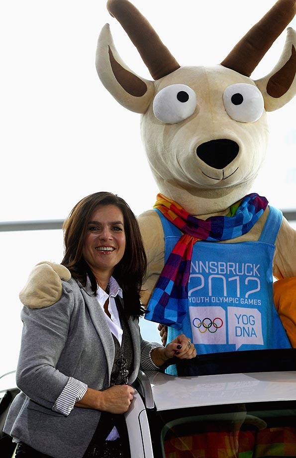 Nov. 9, 2011 - with Yoggi, mascot of the first winter youth Olympic Games