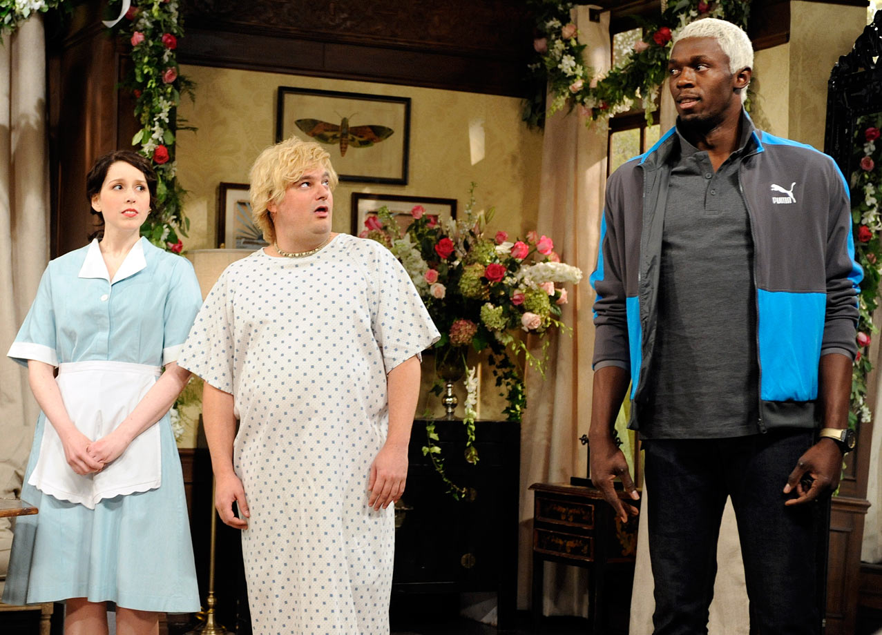 "Bolt's success and playful antics earned him a guest role on NBC's ""Saturday Night Live."""