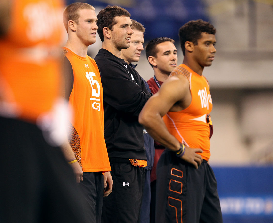Ryan Tannehill, Andrew Luck and Russell Wilson
