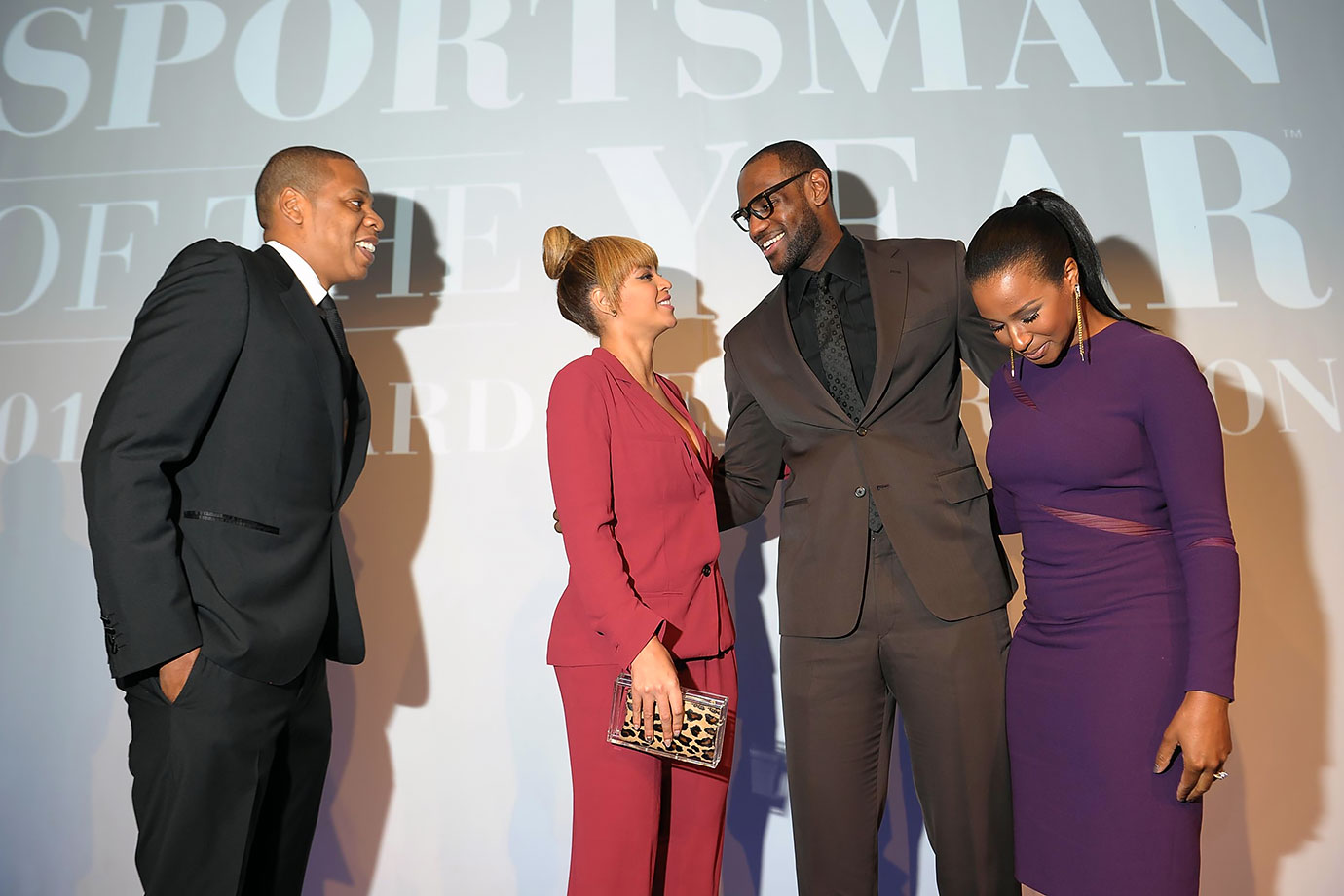 It shouldn't come as much of a surprise that superstar LeBron James has a pretty enviable rotation of famous friends. Case in point: The 2012 Sports Illustrated Sportsman of the Year Award Presentation. In the crowd while James accepted his honor were friends Jay-Z and Beyoncé—two stars anyone would want in their corner.