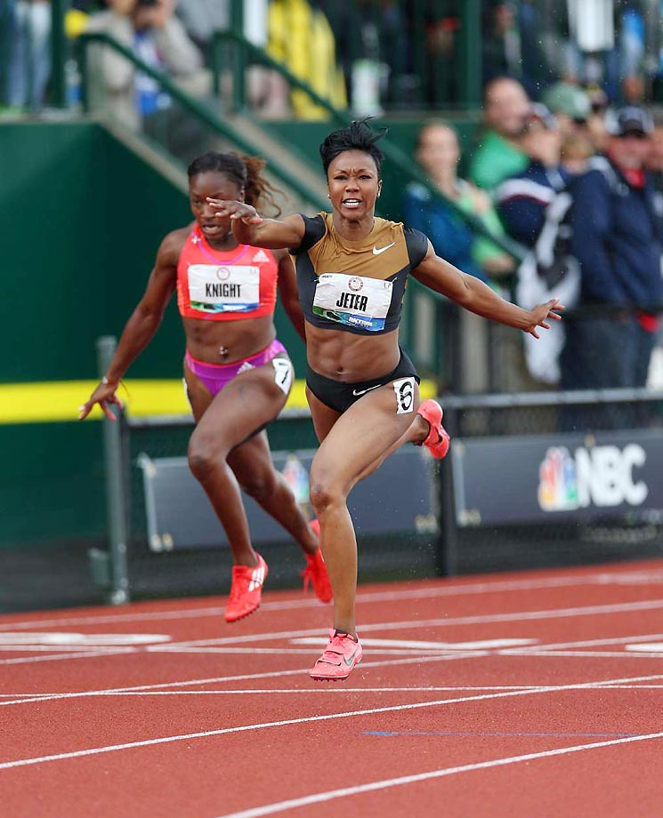 The 100-meter final at the 2012 Olympic Trials.